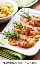 Chicken breast with herbs and couscous salad