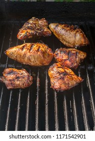 Chicken breasts on the bbq