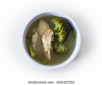Chicken and broccoli soup - a filipino sour tamarmind flavored dish called sinigang.