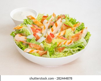 Chicken caesar salad with dressing