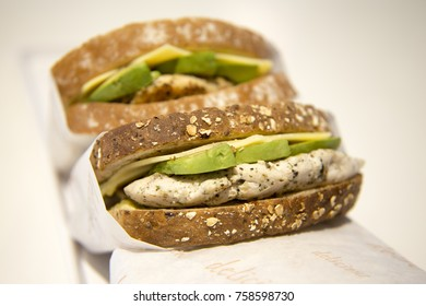 Chicken, Cheese & Avocado Tostie is ready for take out