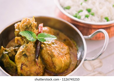 Chicken Chettinad with Rice