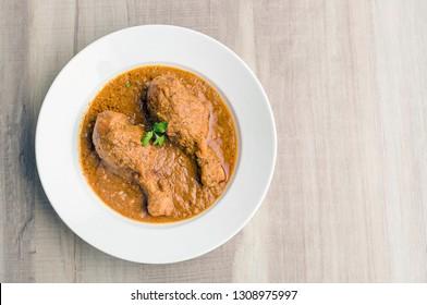 chicken curry or masala chicken or butter chicken