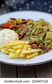 chicken with curry souce
