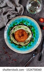 Chicken cutlets in breadcrumbs. Ukrainian cuisine. Selective focus
