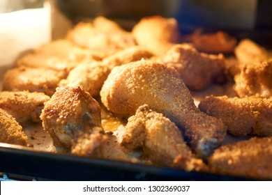 Chicken Drumsticks and Wings in Oven