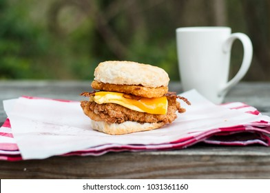 Chicken Egg Cheese Biscuit Breakfast
