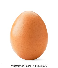 Chicken egg closeup on a white. Isolated.