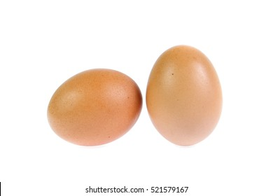 chicken egg isolated on white