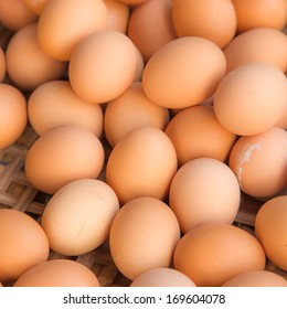 chicken eggs in fresh market