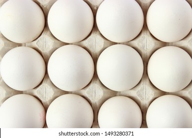 chicken eggs on the table. Farm products, natural eggs.