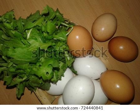 Chicken Eggs Trash Egg Most Versatile Stock Photo Edit Now