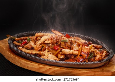 Chicken Fajita: An delicious chicken fajita dish with vegetables  Location: At Rawan Cake in Amman ,Jordan