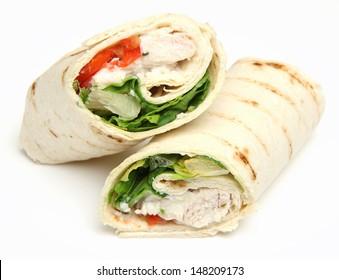 Chicken fajita wrap sandwich.
