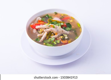 Chicken feet spicy soup. Popular food in Thailand