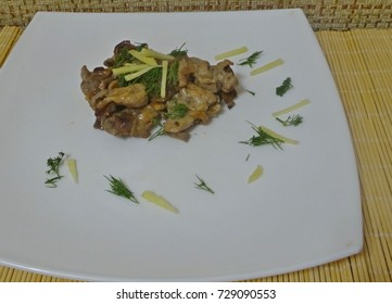 Chicken fillet with ginger