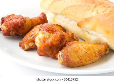 chicken and garlic bread