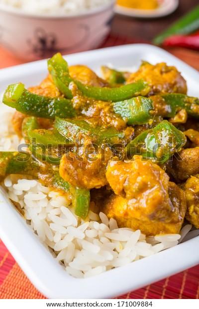 Chicken Jalfrezi Spicy Indian Pakistani Curry Stock Photo Edit Now 171009884