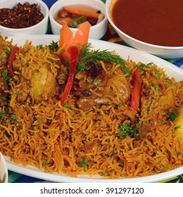 chicken Kabsa - mixed rice dishes that originates in Yemen. Middle  eastern food