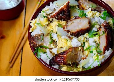 Chicken karaage rice bowl