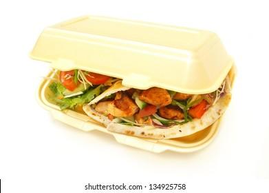 chicken kebab in retail box