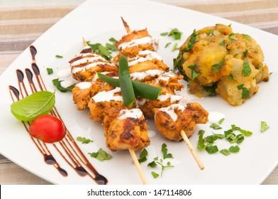 Chicken kebab in sour cream - Indian cuisine