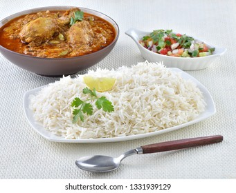 Chicken Korma with Boiled Rice