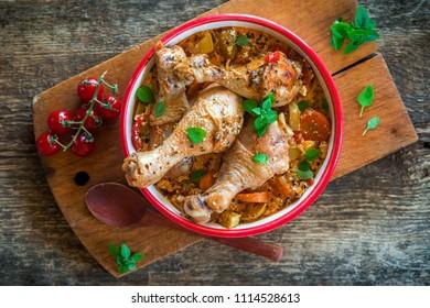 Chicken leg vegetable stew