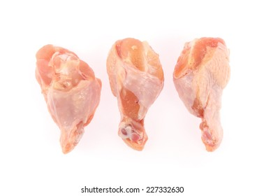 Chicken legs isolated on white background.