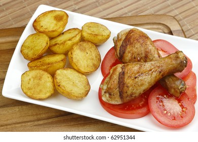 Chicken legs with vegetables