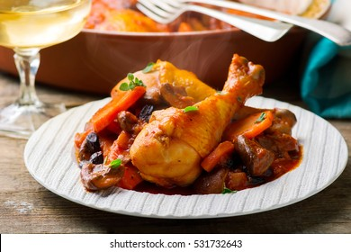 Chicken Legs with Vegetables .selective focus