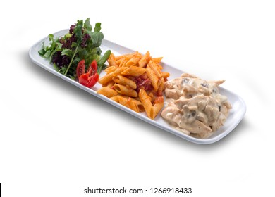 Chicken, Macaroni, Salad