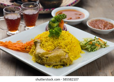 chicken mandi traditional arab food