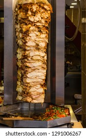 Chicken meat shawarma grilled fast food