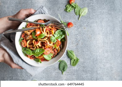 Chicken Noodles with Tomato Sauce