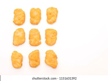 Chicken nuggets isolated on white background