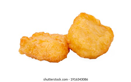 Chicken nuggets isolated on a white background