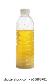 Chicken oil in bottle isolated on white background