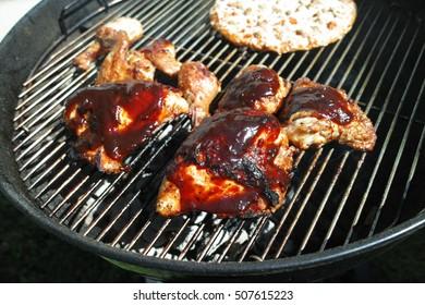 chicken on bbq grill