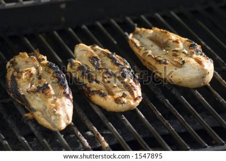 Chicken Gasgrill : Chicken on gas grill stock photo edit now 1547895 shutterstock