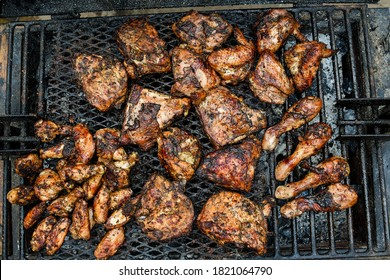 Chicken on the grill Jerk Caribbean Cuisine