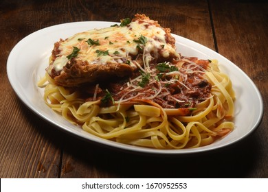 Chicken Parmesan Isolated on Table