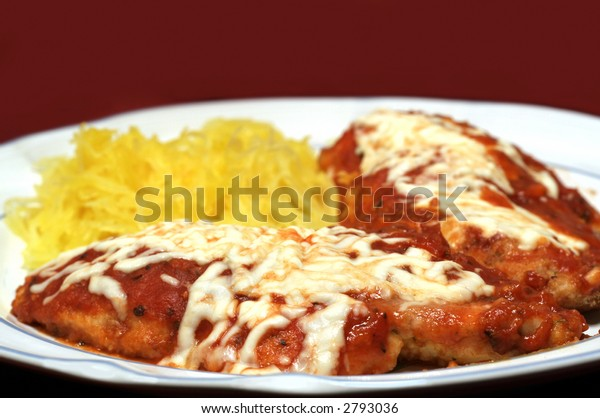 Chicken Parmesan Spaghetti Squash Healthy Low Stock Photo Edit Now 2793036