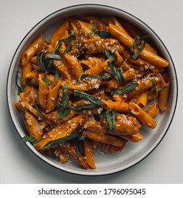 Chicken, Penne alla Vodka with Basil and Parmesan Cheese