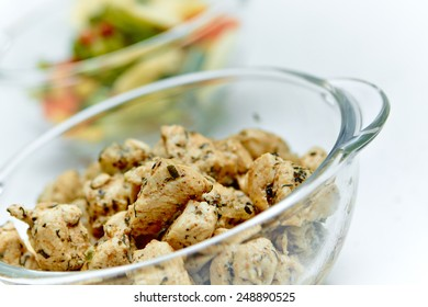 Chicken pieces in a bowl