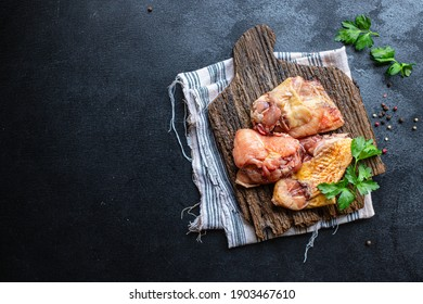 chicken pieces raw rooster or goose fresh farm meat duck on the table for healthy meal snack outdoor top view copy space for text food background image rustic keto or paleo diet
