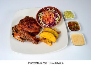 Chicken potatoes salad dish