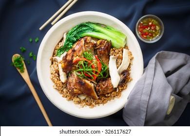 Chicken rice Claypot, Chinese food