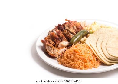 Chicken, Rice and Tortillas