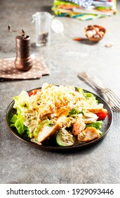 Chicken Salad. Chicken Caesar Salad. Caesar Salad with grilled chicken and croutons.